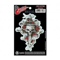 Planet Waves Guitar Tattoos Dagger Rose Skull